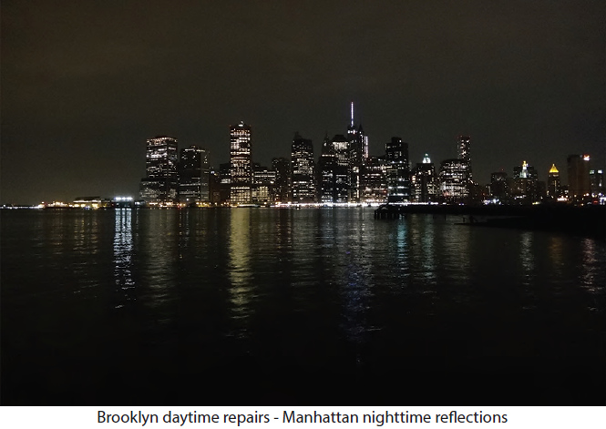 Brooklyn daytime repairs - Manhattan nighttime reections